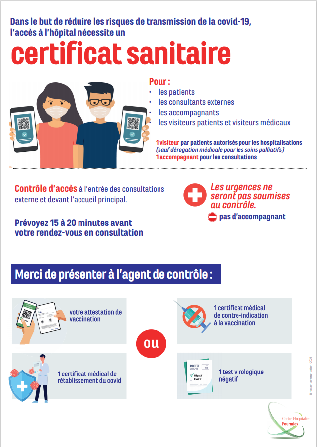 Read more about the article Pass sanitaire Hôpital